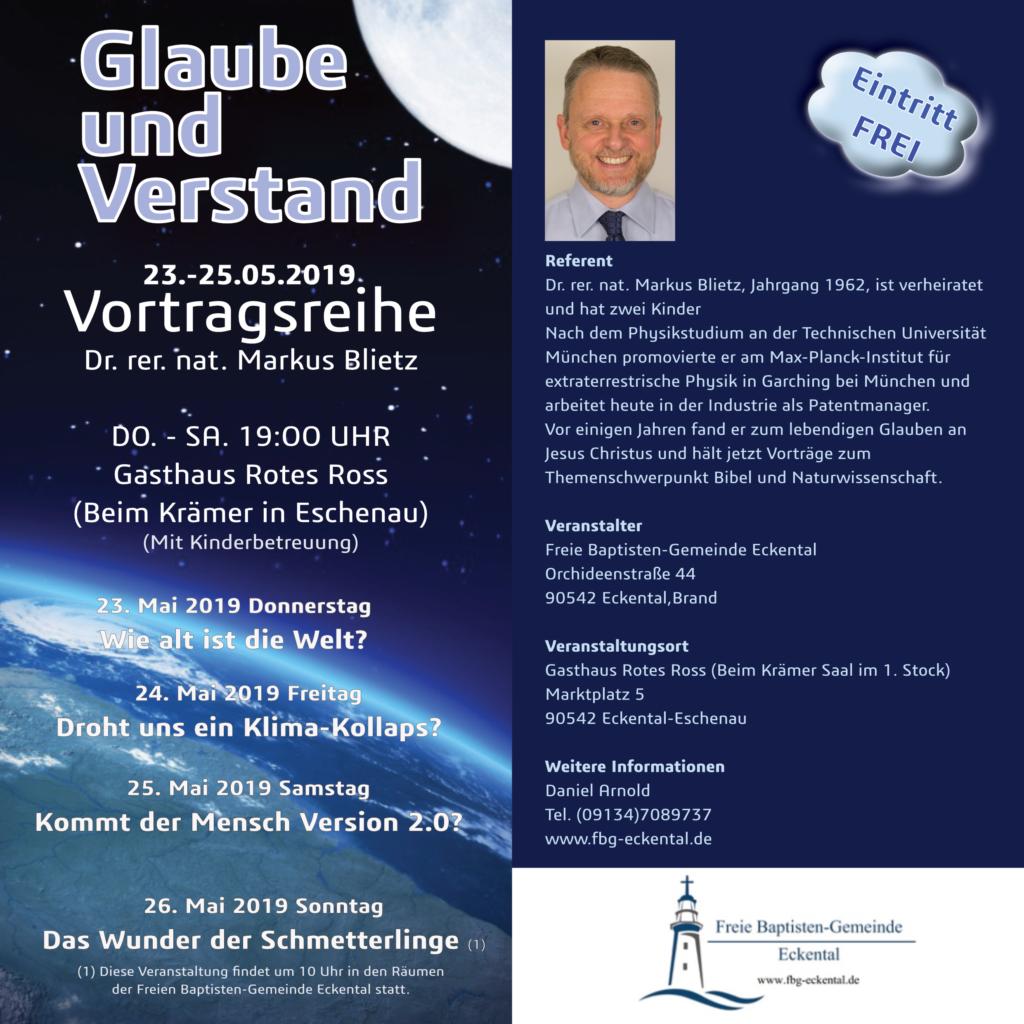Evangelisation- Glaube und Verstand @ Gasthaus Rotes Ross (Krämer, Eschenau)